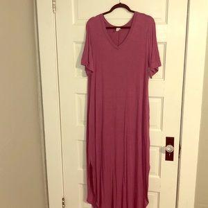 Plus size cotton maxi dress